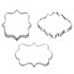 Lot 3 Emporte-pièces métallique Etiquettes