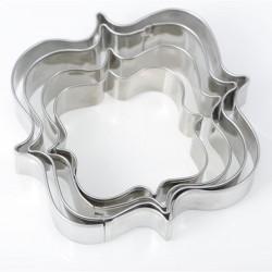 4 Emporte-pièces métalliques Etiquettes carrées