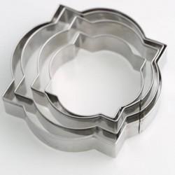 4 Emporte-pièces métalliques Etiquettes rondes
