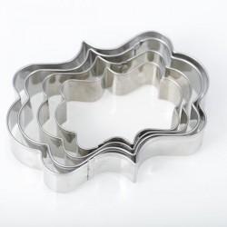 4 Emporte-pièces métalliques Etiquettes rectangles