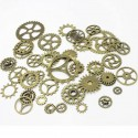 100 breloques steampunk - rouages, bronze