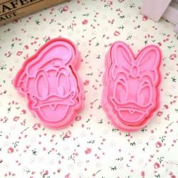 Emporte-pièces et empreintes en plastique Donald et Daisy