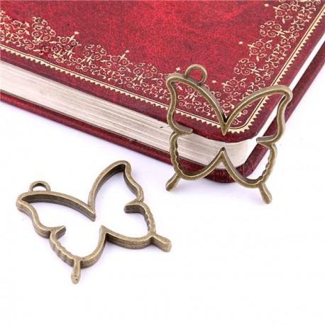 Pendentif contour Papillon 32 x 35 mm, bronze antique