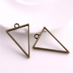 Pendentif contour Triangle 25 x 39 mm, bronze antique