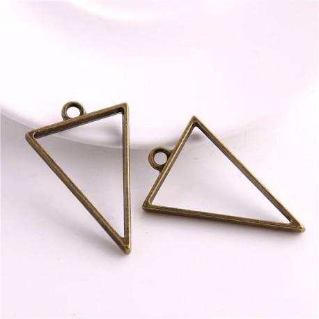 Pendentif contour Triangle 32 x 35 mm, bronze antique