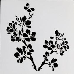 Pochoir Branche avec fleurs
