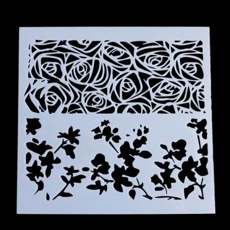 Pochoir Roses
