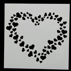 Pochoir Coeur de coeurs