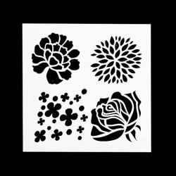 Pochoir 4 Fleurs