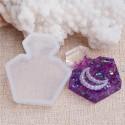 Moule silicone pour résine Parfum carré