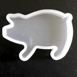 Moule silicone pour résine Cochon