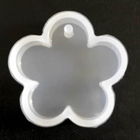 Moule silicone pour résine Fleur, avec trou