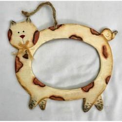 Cadre en bois Chat