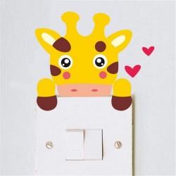 Autocollant mural Girafe - 6 x 7 cm