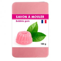 Pain de Savon à mouler Rose 100 gr