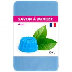 Pain de Savon à mouler Bleu Azur 100 gr