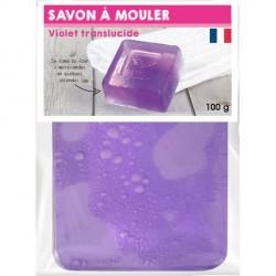 Pain de Savon à mouler Transluscide Violet 100 gr