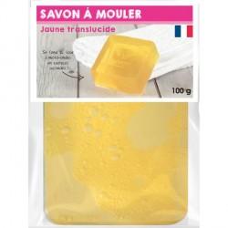Pain de Savon à mouler Transluscide Jaune 100 gr