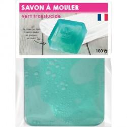 Pain de Savon à mouler Transluscide Vert 100 gr