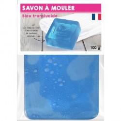 Pain de Savon à mouler Transluscide Bleu 100 gr