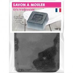 Pain de Savon à mouler Transluscide Gris 100 gr