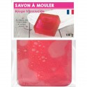 Pain de Savon à mouler Transluscide Rose 100 gr