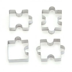 4 Emporte-pièces métalliques Puzzles