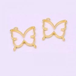 Pendentif contour Papillon 33 x 35 mm, doré