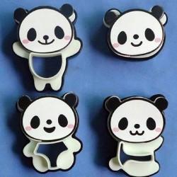 Emporte-pièces et empreintes en plastique Panda