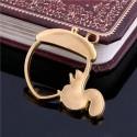 Pendentif contour Ecureuil et sa noisette 32 x 36 mm, doré