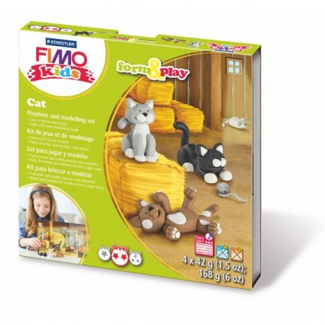 kit fimo kids les chats. Black Bedroom Furniture Sets. Home Design Ideas