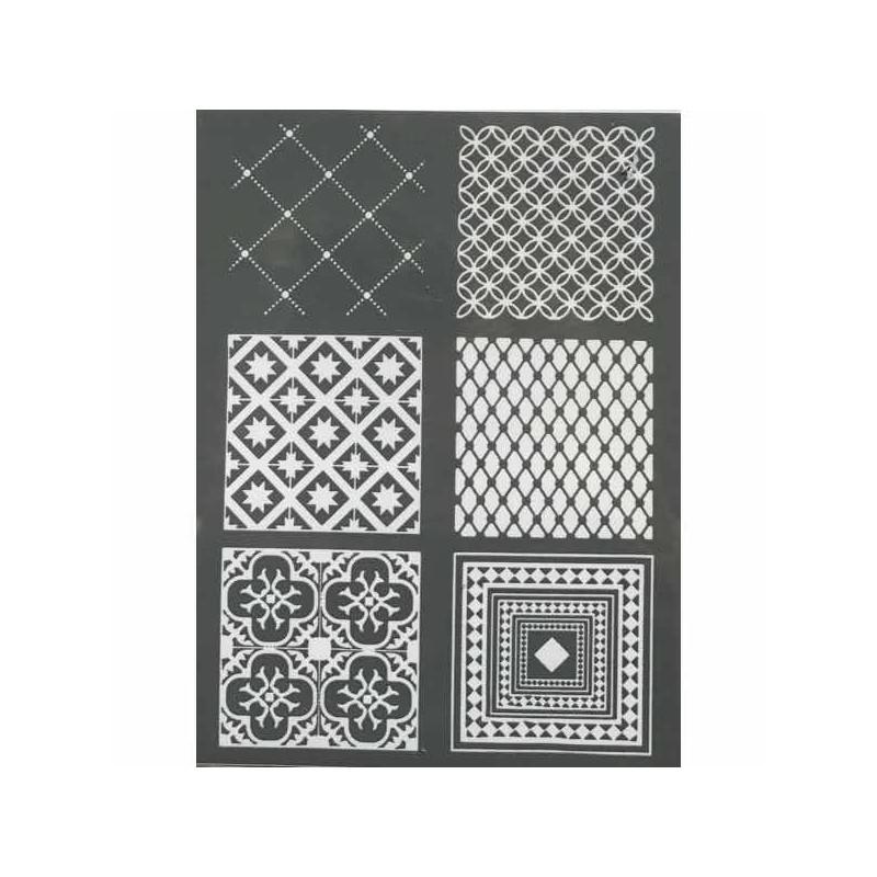 pochoir pour p te polym re carreaux de ciment. Black Bedroom Furniture Sets. Home Design Ideas