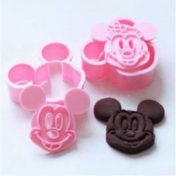Emporte-pièces et empreintes en plastique Mickey et Minnie