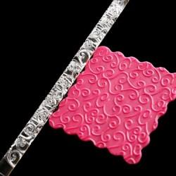 Rouleau de texture Volutes Coeurs 16 x 1 cm