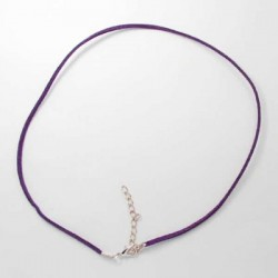 Collier cordon suédine, violet, 2 mm