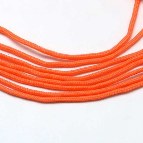 Fil Paracord uni Orange 2 mm ø - Au mètre