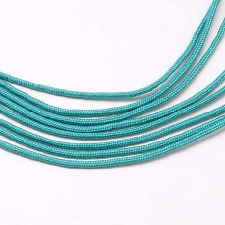 Fil Paracord uni Bleu Turquoise 2 mm ø - Au mètre