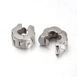 Métal perle bracelet pince style Pandora - à l'unité