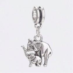 Charm Pendentif Maman Eléphant et son petit style Pandora - à l'unité
