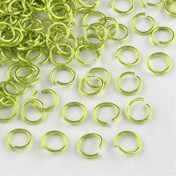 Anneau aluminium vert, 10 mm x10