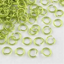 Anneau aluminium vert, 8 mm x10