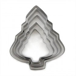 5 Emporte-pièces métalliques Sapins