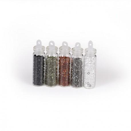 5 Flacons Mini diamants classiques