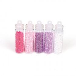 5 Flacons Mini diamants romantiques