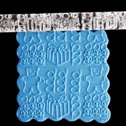 Rouleau de texture Ourson 16 x 1 cm