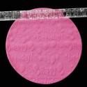 Rouleau de texture Anniversaire 16 x 1 cm