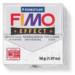 Fimo Effect 052 Blanc Pailleté - 57 gr