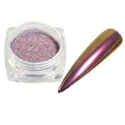 Pigment holographique effet velours pailleté violet brun - 0,5 gr