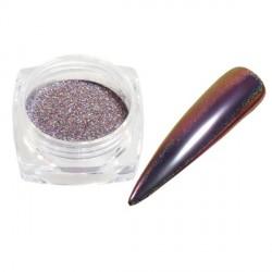 Pigment holographique effet velours pailleté violet - 0,5 gr