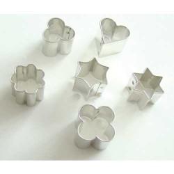 6 emporte-pièces métalliques pour fimo